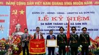 Xã Sơn Hải đón nhận danh hiệu Anh hùng lực lượng vũ trang nhân dân