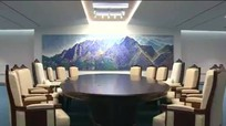 Hình ảnh đầu tiên của phòng họp thượng đỉnh Hàn - Triều