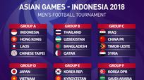 ĐT U23 Việt Nam cùng bảng U23 Nhật Bản tại Asiad 2018