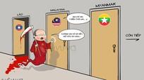 Bộ ảnh hí họa hâm nóng trận Việt Nam - Malaysia