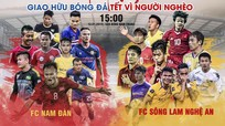 Video Phan Văn Đức và cầu thủ SLNA thi đấu giao hữu từ thiện ở Nam Đàn
