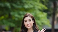 Hoa hậu Mỹ Linh rạng rỡ về trường tuyển sinh cho Hoa hậu Việt Nam 2018