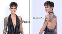 Sao Hollywood mặc váy xẻ bạo, khoe hình xăm ở Cannes
