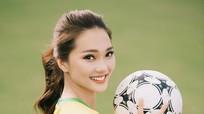 Người đẹp Ngọc Nữ thể hiện tài chơi bóng điệu nghệ mùa World Cup