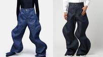 Mốt quần jeans lượn sóng giá trên 20 triệu đồng gây tranh cãi