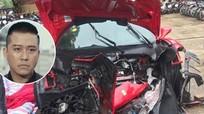 Siêu xe Ferrari của ca sỹ Tuấn Hưng nát bét phần đầu trong vụ tai nạn