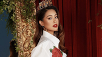 Tiên Nguyễn đẹp 'gây mê' diện thời trang sang chảnh khi ở nhà tránh dịch