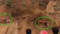 Thót tim chứng kiến tài xế thoát chết khỏi trận lở đất kinh hoàng