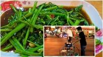 """Tuyệt kỹ """"rau muống xào tỏi bay"""" ở Thái Lan khiến du khách thích thú"""