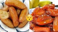 Món ngon ăn vặt hấp dẫn từ chuối chín
