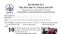 Bình xịt tê cho Quang Hải vào đề thi học kỳ môn Hóa ở Sài Gòn