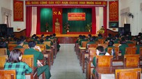 Bộ CHQS tỉnh Nghệ An công bố quyết định giải thể Trường Quân sự tỉnh