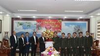Tòa giám mục Giáo phận Vinh chúc Tết Công an tỉnh Nghệ An