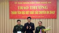 """Trao thưởng chuyên án bắt đối tượng người Lào """"cõng"""" 10 bánh heroin vượt dãy Trường Sơn"""