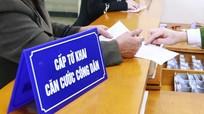 Nhận thủ tục cấp thẻ Căn cước công dân từ tháng 11