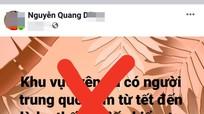 Huyện Tương Dương phạt 12,5 triệu đồng đối tượng đăng tin sai sự thật lên Facebook