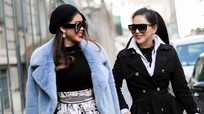 Cựu diễn viên Thủy Tiên và con gái đến Italy xem thời trang