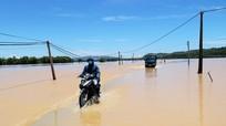 Lũ trên các sông ở Nghệ An xuống chậm và đang ở mức cao