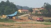Máy bay quân sự gặp sự cố ở Yên Bái