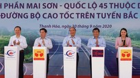 Thủ tướng Nguyễn Xuân Phúc phát lệnh khởi công dự án cao tốc Bắc - Nam
