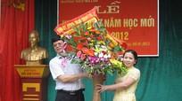 Đồng chí Phó Chủ tịch UBND tỉnh Lê Xuân Đại dự khai giảng năm học mới tại Trường THCS Trà Lân, Con Cuông
