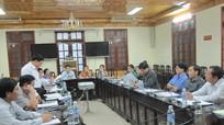 Đoàn đại biểu Quốc hội làm việc với lãnh đạo tỉnh Nghệ An