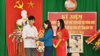 Đồng chí Đinh Thị Lệ Thanh dự Ngày hội Đại đoàn kết toàn dân tộc tại xã Hưng Lộc (Thành phố Vinh)