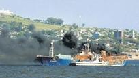 Cháy tàu Hàn Quốc, hai thủy thủ quê Hà Tĩnh (Việt Nam) mất tích
