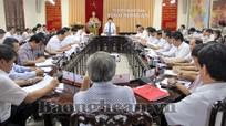 UBND tỉnh cho ý kiến các dự thảo Báo cáo, Tờ trình chuẩn bị cho Kỳ họp thứ 5 - HĐND tỉnh