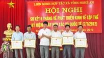 Liên minh HTX tỉnh Nghệ An đón nhận Cờ thi đua của Chính phủ