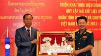 Triển khai công tác quy tập hài cốt liệt sỹ quân tình nguyện và chuyên gia Việt Nam tại Lào