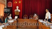 HĐND tỉnh khảo sát bán đấu giá tài sản tại Sở Tư pháp