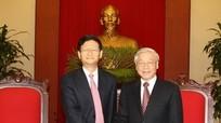 Tổng Bí thư Nguyễn Phú Trọng tiếp Bộ trưởng Bộ Công an Trung Quốc
