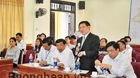 Lãnh đạo tỉnh làm việc với Sở Giao thông Vận tải về Dự án bảo tồn, tôn tạo Khu Di tích lịch sử Truông Bồn
