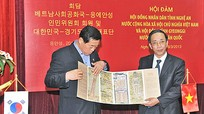 Đoàn đại biểu tỉnh Gyeonggi (Hàn Quốc) hội đàm với đoàn đại biểu tỉnh Nghệ An