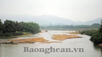 Tân Kỳ: Đồng loạt ra quân tháo dỡ các bến cát trái phép