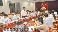 Đoàn đại biểu Quốc hội làm việc với UBND tỉnh trước kỳ họp thứ 5- QH Khóa XIII