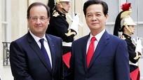 Thủ tướng hội kiến với Tổng thống Pháp Hollande