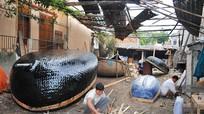 Nghề đan thuyền nan ở Quỳnh Phương