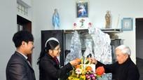 MTTQ tỉnh chúc mừng các linh mục, chức sắc nhân dịp lễ Noel