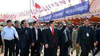 Khởi công cây cầu nối tỉnh An Giang và tỉnh Kandal (Campuchia)