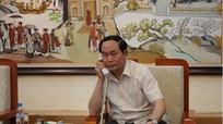 Bộ trưởng Trần Đại Quang điện đàm với Bộ trưởng Bộ Công an Trung Quốc