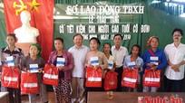 Sở Lao động TBXH: Tặng sổ TK, hỗ trợ sửa nhà tại xã Lượng Minh
