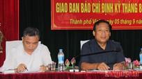 Giao ban báo chí Nghệ An tháng 8 năm 2014