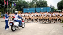 Tập huấn kỹ năng lái xe an toàn cho cảnh sát giao thông