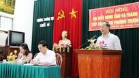 Đồng chí Trần Hồng Châu tiếp xúc cử tri phường Trường Thi, TP.Vinh