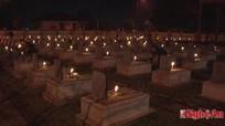 Hưng Nguyên: Thắp nến tri ân các anh hùng liệt sỹ đêm 30 tết