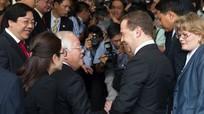 Chủ tịch TP HCM đón tiếp Thủ tướng Nga Dmitry Medvedev