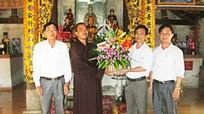 Ủy ban MTTQ tỉnh chúc mừng các tăng ni, phật tử nhân lễ Phật Đản
