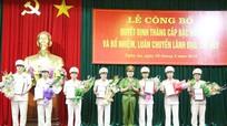 Thăng cấp hàm Thượng tá cho Phó giám đốc Công an tỉnh Nghệ An